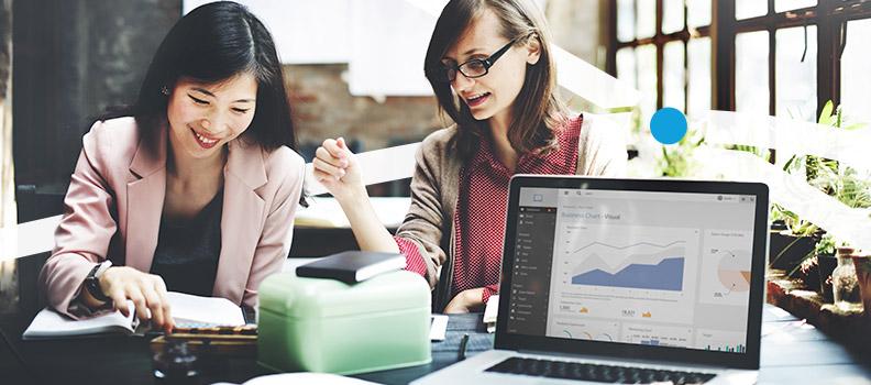 Marketing team measuring impact with metrics